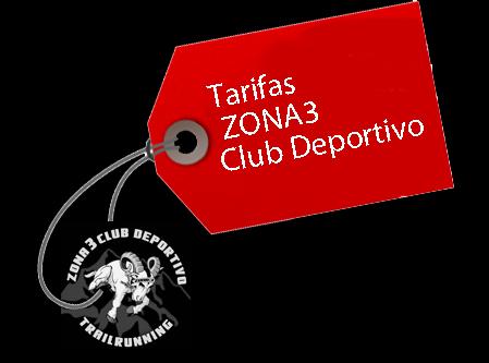 Tarifas ZONA3 Club Deportivo