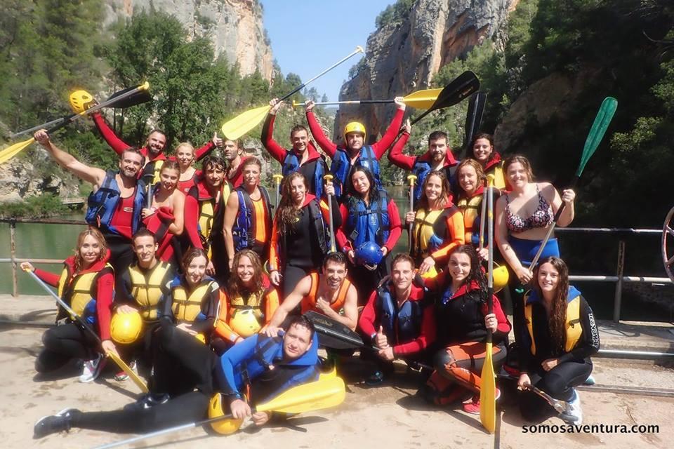 Descenso conRAFTINGen el rio de Montanejos