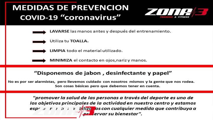 Prevención COVID-19 (Coronavirus)